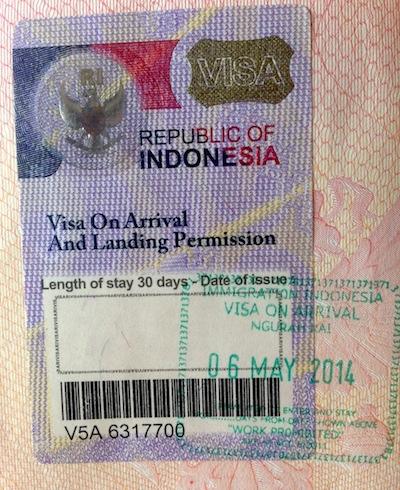 indonesia visa on arrival form pdf